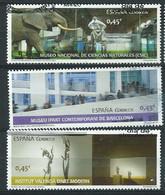 ESPAGNE SPANIEN SPAGNA SPAIN ESPAÑA  2016 MUSEUMS SET OF 3V. 1.35 €  ED 5034-36 - 1931-Aujourd'hui: II. République - ....Juan Carlos I