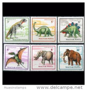 HUNGARY 1990 - Scott # 3263-8 Dinosaurs Set Of 6 MNH - Unused Stamps