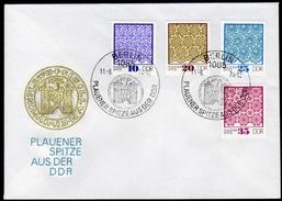 DDR 1974 - Plauener Spitzen - Sonderstempel FDC - Textil
