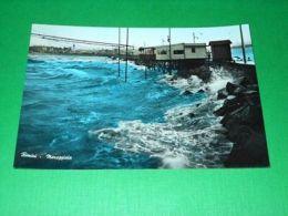 Cartolina Rimini - Mareggiata 1955 - Rimini