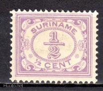 (S1741) SURINAME, 1913 (Definitive. ½c., Violet). Mi # 74. MH* Stamp - Surinam ... - 1975