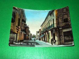 Cartolina Borgo San Martino - Via Roma 1955 Ca - Alessandria