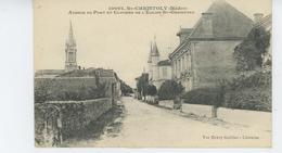 SAINT CHRISTOLY - Avenue Du Port Et Clocher De L'Eglise - Other Municipalities