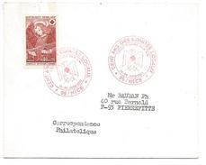 OBLITERATION CENTENAIRE DES COMITES LOCAUX CROIX ROUGE à NICE 1971 - Marcophilie (Lettres)