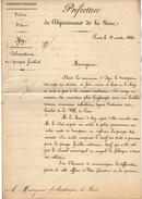 VP10.261-1864 - LS De Mr Le Sénateur,Préfet De La Seine E. HAUSSMANN (1809 - 1891) Pour Mr L'Archevêque De PARIS X ISSY - Autographs