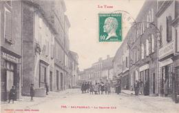 CPA Animée (81) SALVAGNAC La Grande Rue - Salvagnac