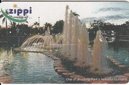 BRUNEI(chip) - One Of Jerudong Park' S BeautifulFountains, Zippi Telecard $10, 02/04, Used - Brunei