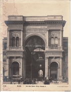 FOTOSTAMPA MILANO -N.RICCARDI EDITORE-Arco Della Galleria Vittorio Emanuele II- - Stampe & Incisioni