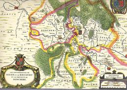 Vieux Pays De France Carte De Blaev Sedan,Raucourt,Donchéri éditée Par Marinier En 1939 - Documenti Storici