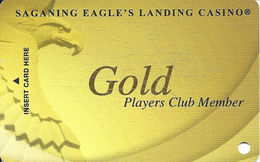 Saganing Eagle's Landing Casino - Standish, MI - BLANK Gold Level Slot Card - Casino Cards