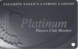 Saganing Eagle's Landing Casino - Standish, MI - BLANK Platinum Level Slot Card - Casino Cards