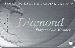 Saganing Eagle's Landing Casino - Standish, MI - BLANK Diamond Level Slot Card - Casino Cards