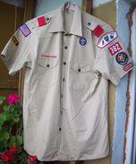BSA US Scout Khaki Shirt - 10pcs Patches & Ranks - Scouting
