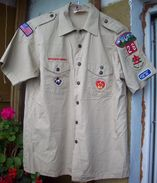 BSA US Scout Khaki Shirt - 10pcs Patches & Grades - Scoutismo