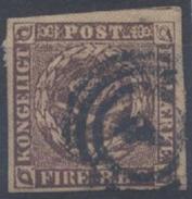 Danemark : N° 2b Oblitéré Année 1851 - Oblitérés