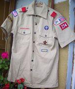BSA US Scout Shirt - 10 Patches & Ranks - Scoutisme