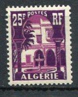ALGERIE - Yv. N°  314A  ** MNH  25f   Bardo Cote  1,15 Euro  TBE 2 Scans - Algeria (1924-1962)