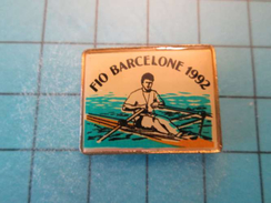 Pin1116b Pin's Pins / SPORT : FIO BARCELONE 1992 AVIRON , Belle Qualité !!!    Marquage Au Dos : ---- - Rowing