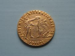 ACADEMIE INTERNATIONALE DE LUTECE ( 60.4 Gram / Goudkleur 5 Cm. ) ! - Jetons & Médailles