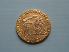 ACADEMIE INTERNATIONALE DE LUTECE ( 60.4 Gram / Goudkleur 5 Cm. ) ! - Tokens & Medals