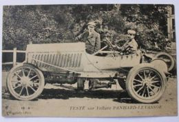 Cartolina Teste Sur Voiture Panhard-Levassor Inizio 900 - Non Classificati