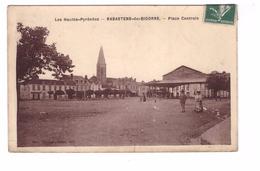 65 Rabastens De Bigorre La Place Centrale Cachet 1909 - Rabastens De Bigorre