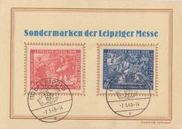 SBZ Sonderkarte Leipziger Messe Minr.230,231 SST Leipzig 7.3.49 - Sowjetische Zone (SBZ)