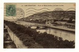 Cpa N° 12 SAN SEBASTIAN Puente De Maria Cristina Y De Santa Catalina - Guipúzcoa (San Sebastián)