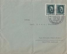DR Brief Mef Minr.2x 650 Aus Block 11 SST Nürnberg 10.9.37 - Briefe U. Dokumente