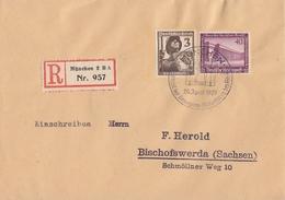 DR R-Brief Mif Minr.642,643 SST München 20.4.37 - Briefe U. Dokumente