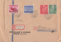 DR R-Brief Mif Minr.879,884,894,895 Lorch 28.7.44 - Briefe U. Dokumente