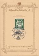 DR Anlasskarte Tag Der Briefmarke EF Minr.762 SST München 12.1.41 - Briefe U. Dokumente