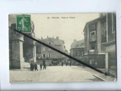 CPA    -  Privas  - Place De L'église - Privas