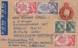 Australien Luftpostbrief GS-Umschlag Mit Zusatzfrankatur Gel. Nach Deutschland Ansehen !!!!!!!!!!!!!!!! - Briefe U. Dokumente