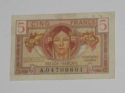 5 Francs 1947 - Trésor Francais - Territoires Occupés  **** EN ACHAT IMMEDIAT **** - Tesoro