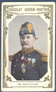 Chromo Chocolat Guerin-Boutron Livre D´or Célébrités Contemporaines 122 Général Bonnal Algérie 1870 Annam - Guérin-Boutron