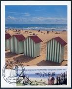 FRANCE (2017). Carte Maximum Card - ATM LISA - 65 Assemblée Générale De PHILAPOSTEL - Longeville-sur-Mer - Beach Hut - 2010-... Vignettes Illustrées