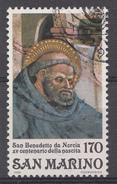 Saint-Marin 1980  Mi.Nr: 1205 Geburtswtag Von Hl.Benedikt Von Nursia  Oblitèré / Used / Gebruikt - Saint-Marin
