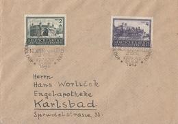GG Brief Mif Minr.113,114 SST Krakau Gel. Nach Karlsbad - Besetzungen 1938-45