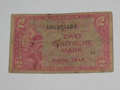 2 Zwei Deutsche Mark - Allied Occupation WWII - ALLEMAGNE - Série 1948  **** EN ACHAT IMMEDIAT **** Billet RARE !!! - [ 5] 1945-1949 : Allies Occupation
