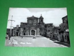Cartolina S. Cataldo - Chiesa Madre 1955 Ca - Caltanissetta