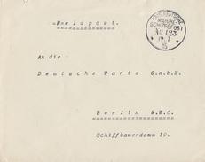 DR Brief Kaiserl.-Dt.-Marineschiffspost Nr.123  19.7.15 - Briefe U. Dokumente