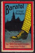 Breslau Wroclaw Germany Poland - BARATOL Shoe Polish Advertising Propaganda Cinderella Label Vignette MH - Other