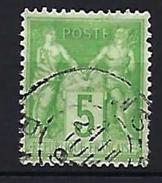 "FR YT 106 "" Sage 5c. Type II "" Cachet à Date - 1876-1898 Sage (Type II)"