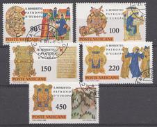 Vatican 1980  Mi.Nr: 759-763 Geburtstag Des Hl.Benedikt Von Nursia  Oblitèré / Used / Gebruikt - Oblitérés