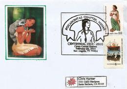 Pocahontas, Fille Du Grand Chef Amérindien. (Disney)  Lettre Adressée En Californie - Disney