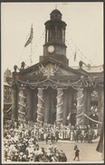 Coronation Celebrations, Unidentified Town Hall, England, C.1910 - RP Postcard - To Identify