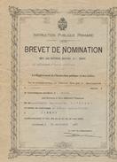 BREVET DE NOMINATION  Pour Une Maitresse Pourvue Du Brevet - Lausanne 1925 - Diplômes & Bulletins Scolaires