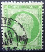 FRANCE           N° 20             OBLITERE - 1862 Napoleon III