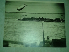 $3 USA ARMY1944 WW2 FOTO RHINO FERRIES LAND HEAVY EQUIMENT NORMANDY - Altri